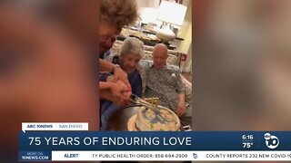 San Diego couple shares 75 years of enduring love