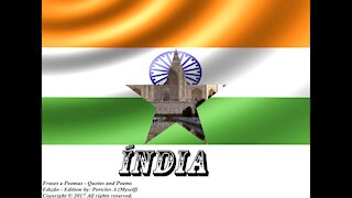 Bandeiras e fotos dos países do mundo: Índia [Frases e Poemas]