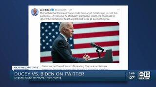 Doug Ducey and Joe Biden duel on Twitter