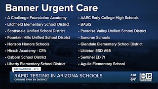 8 school districts show interest in rapid testing in Maricopa Co.