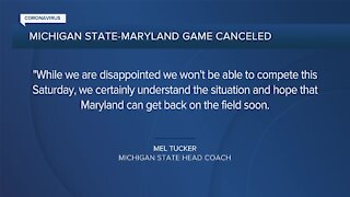 Michigan State's game at Maryland canceled due to COVID-19