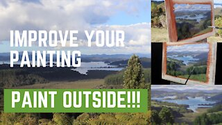 Improve Your Painting, Paint Outside!!!