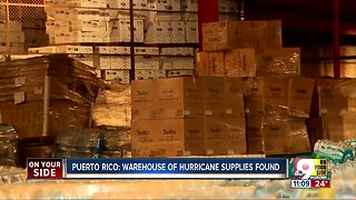 Warehouse of hurricane supplies found in Puerto Rico