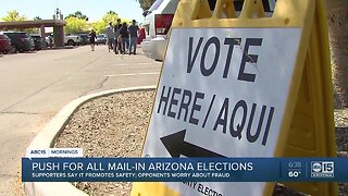 Push for mail-in ballots for Arizona election