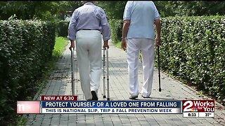 Preventing slips and falls for senior citizens