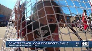 Arizona Coyotes teach Valley kids hockey skills