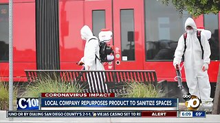 Local company repurposes product to sanitize spaces
