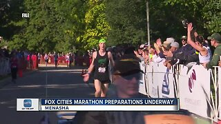 Runners getting ready for the Fox Cities Marathon