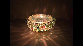 lighting through glass marble