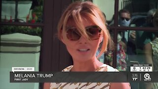 First lady Melania Trump votes in Palm Beach County on Election Day