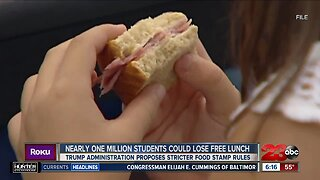 Nearly One Million Students Could Lose Free Lunch