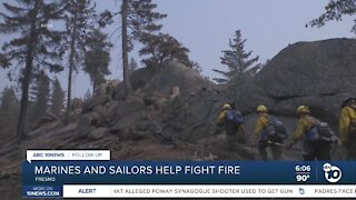 Camp Pendleton Marines and Sailors fight Creek Fire