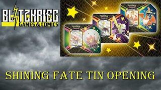 Pokemon Shining Fates Eldegoss V Tin Opening