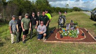 Roadside memorial for slain FHP Trooper Joseph Bullock enhanced in Martin County
