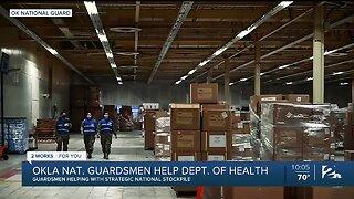 Oklahoma National Guardsmen Helping With Strategic National Stockpile