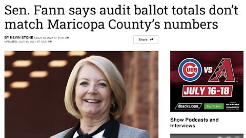Karen Fann says the Audit Ballot Counts don't Match with the County