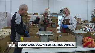 Foodbank volunteer with Down syndrome inspires others