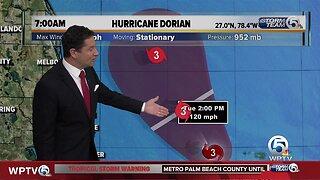 7 a.m. Tuesday Dorian update