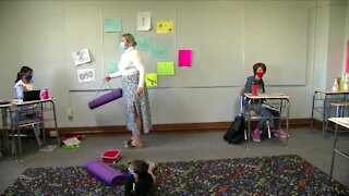 School creates remote learning room for employees children