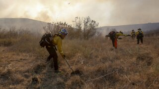 Crews Battle Southern California Wildfire