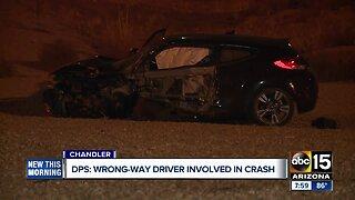DPS: Wrong-way driver involved in crash