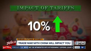 Trade war with China could impact wallet