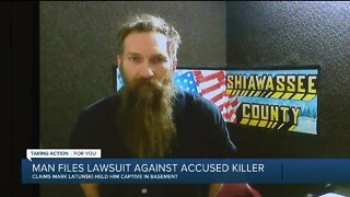 Man file lawsuit against accused killer