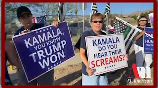 Protestors Waiting To Greet Kamala By The Border - 2127