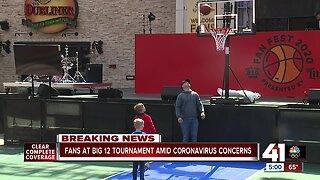 Fans at Big 12 tournament amid coronavirus concerns