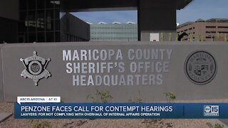 MCSO Sheriff Paul Penzone faces calls for contempt hearings