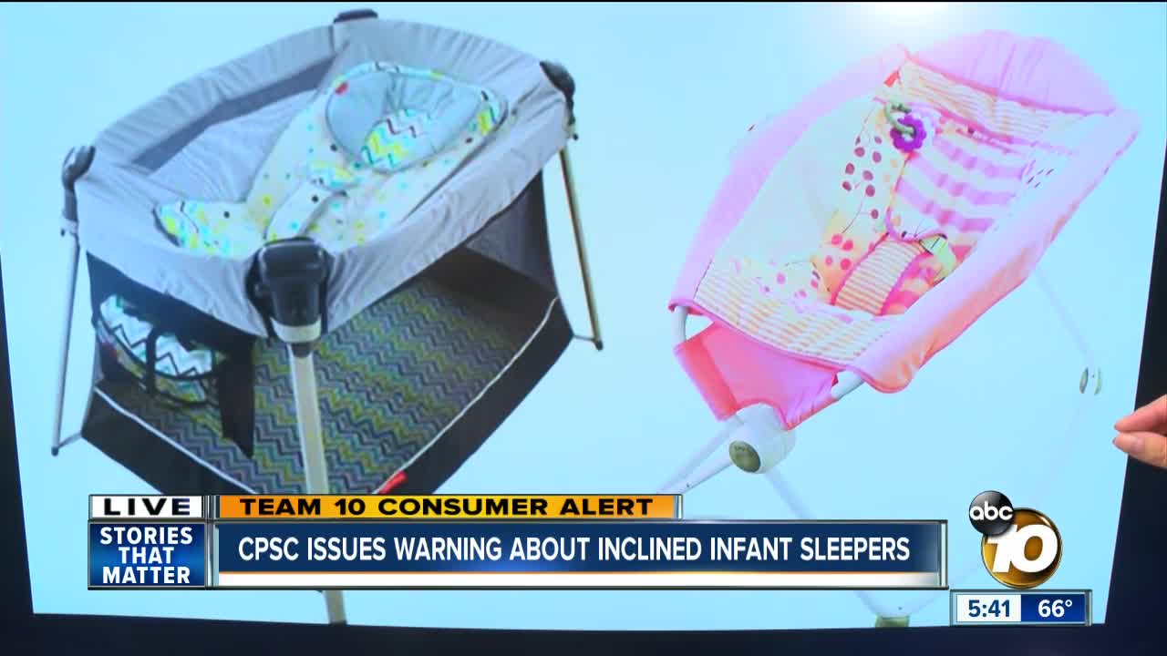 CPSC issues warning about inclined infant sleepers