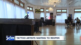 Tattoo artists upset, frustrated after being left out of reopening plans