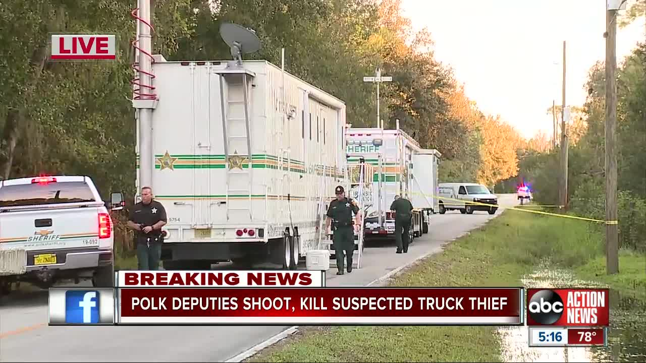 Woman shot, killed after trying to drive truck at deputies