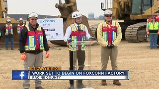 Foxconn awards contracts to start working on manufacturing plant