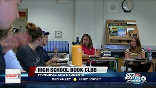Principal, high school students gather for book club