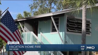 Vacation home fire