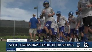 State loosens restrictions on youth sports