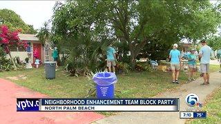 Neighborhood enhancement team block party held in North Palm Beach