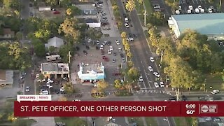 St. Pete officer, one other person shot