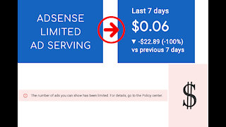 ADSENSE AD SERVING HAS BEEN LIMITED INVALID TRAFFIC CONCERNS