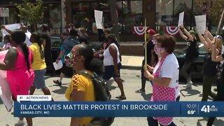 Black Lives Matter protest in Brookside