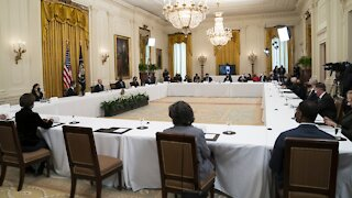 Pres. Biden Hosts First Cabinet Meeting, Pushes Infrastructure Plan