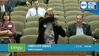 FULL VIDEO   Woman chops hair during City Council meeting to prove a point