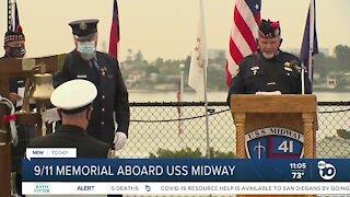 9/11 memorial aboard USS Midway