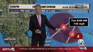 3 p.m. Dorian update