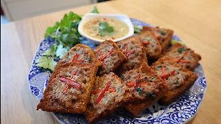 How to make Thai savory pork toasties & dip