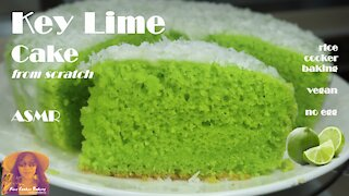 Key Lime Cake from Scratch   No Egg   Vegan   EASY RICE COOKER CAKE RECIPES