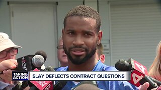 Slay deflects contract questions at Lions Training Camp