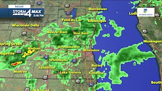 Scattered rain Wednesday night with temps in the 60s