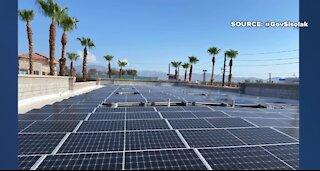Gov. Sisolak visits Las Vegas charities new solar array